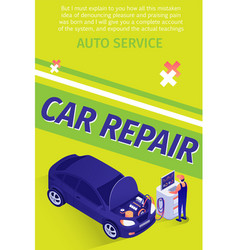 text flyer for professional car repair service vector image