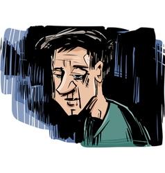thinking man drawing vector image