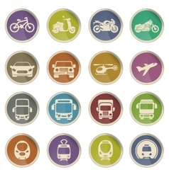 Transport mode icons vector image