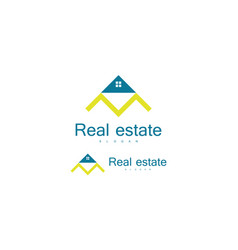 triangle roof real estate logo vector image