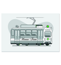 vintage tram - symbol vienna austria tramway vector image