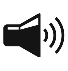 Volume speaker icon simple style vector