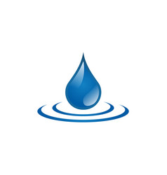 water drop icon design template isolated vector image