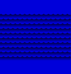 waves - abstract black and blue vector image