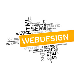 Web design word cloud tag cloud graphic vector