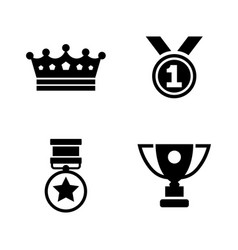 Winning simple related icons vector