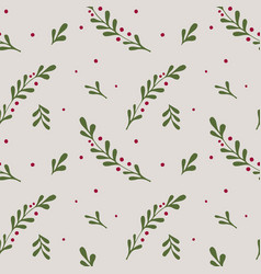 winter seamless pattern christmas elements vector image