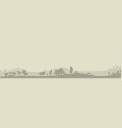 Wooded foreground vector