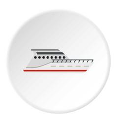 Yacht icon circle vector