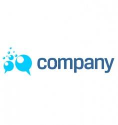 bubbles logo vector image
