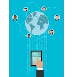 Creative global networking concept design vector image