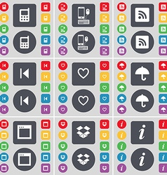 Mobile phone Smartphone RSS Media skip Heart vector image vector image