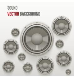 Sound Load Speakers on light background vector image
