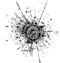 Tech blot vector image