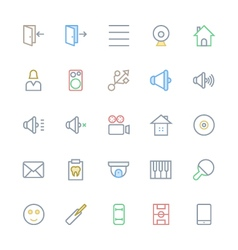 User Interface Colored Line Icons 50 vector image vector image
