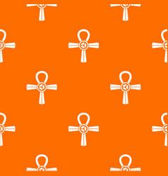 egypt ankh symbol pattern seamless vector image vector image