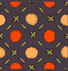lacing patchwork doodle seamless pattern hand vector image vector image