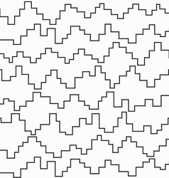 monochrome pixel zigzag seamless pattern vector image vector image