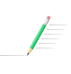 Pencil drawing a line vector image vector image