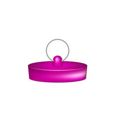 rubber plug in purple design vector image vector image