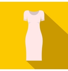 White dress icon flat style vector image
