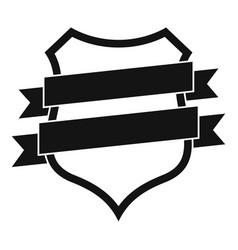 badge design icon simple black style vector image
