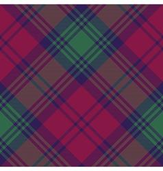 Lindsay tartan fabric texture diagonal pattern vector image vector image