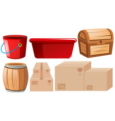 set of different containers vector image