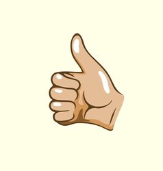 Thumps up vector image vector image