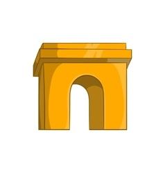 Triumphal arch Paris icon cartoon style vector image