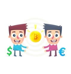 Bitcoin Exchange vector image