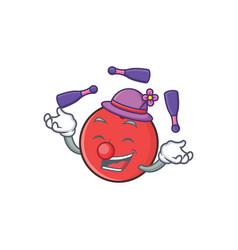 Juggling bowling ball character cartoon vector