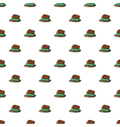 Men hat pattern cartoon style vector image