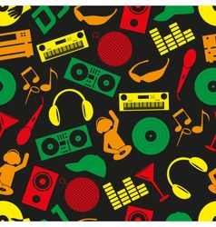 music club dj color icons seamless pattern eps10 vector image vector image