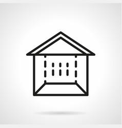 trade marquee simple line icon vector image
