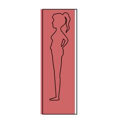 woman pregnant silhouette icon vector image