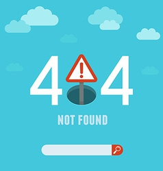 404 error page template vector image