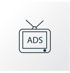 advertising icon line symbol premium quality vector image