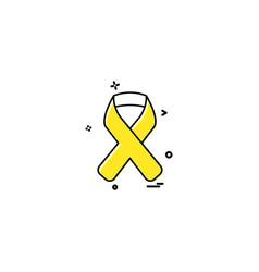 aids blood disease hiv ribbon icon desige vector image