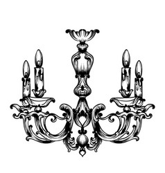 baroque chandelier french luxury rich vector image