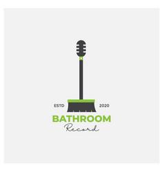 Bath room music logo design vector