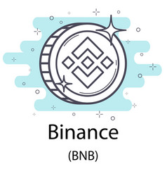 binance outline coin vector image