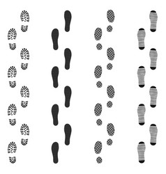 black dirty isolated footprint track steps sport vector image