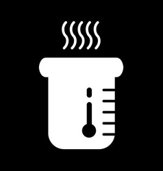 Boiling water icon glass with hot water vector