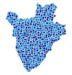 burundi map mosaic of squares vector image
