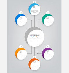 Business infographic labels template with 8 vector