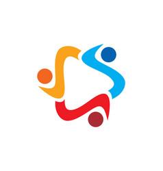 Circle diversity colored logo vector