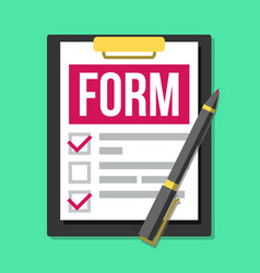 Claim form medical office paperwork vector