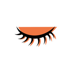 color close vision eye with eyelashes style vector image