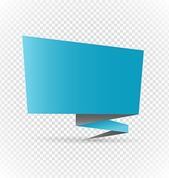 Color polygonal origami banner on transparent vector
